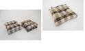 Arlee Home Fashions Buffalo Check Set of Four Chair Pad Seat Cushions