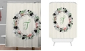 Deny Designs Iveta Abolina Silver Dove Christmas T Shower Curtain