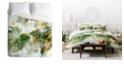 Deny Designs Iveta Abolina Tropical Lush Queen Duvet Set