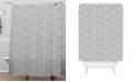 Deny Designs Holli Zollinger Mosaic Scallop Light Shower Curtain