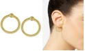 Macy's Doorknocker Circle Drop Earrings in 14k Gold