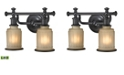 ELK Lighting Acadia Collection 2 light bath in Oil Rubbed Bronze - LED, 800 Lumens (1600 Lumens Total) with Full Scale Dimming Range
