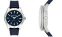 A|X Armani Exchange Men's Enzo Blue Silicone Strap Watch 46mm