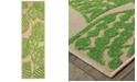 """Oriental Weavers Cayman 566F9 Sand/Green 2'3"""" x 7'6"""" Indoor/Outdoor Runner Area Rug"""