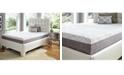 "Future Foam 10"" Comfort Loft Gray Rose with Ebonite Full Memory Foam and Comfort Choice, Soft"
