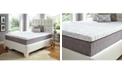 "Future Foam 12"" Comfort Loft Gray Rose with Ebonite Twin Memory Foam and Comfort Choice, Soft"