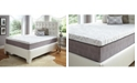 "Future Foam 12"" Comfort Loft Gray Rose with Ebonite King Memory Foam and Comfort Choice, Medium Firmness"