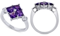 Macy's Amethyst (1-3/4 ct. t.w.) & Diamond Accent Ring in 14k White Gold