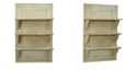 Nearly Natural 31.75-In. Vintage Window Shutter Shelving Wall Decor
