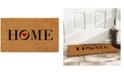 """Home & More Heart Home 17"""" x 29"""" Coir/Vinyl Doormat"""