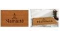 """Home & More Namaste 24"""" x 36"""" Coir/Vinyl Doormat"""
