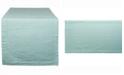 """Design Imports Aqua Seersucker Table Runner 14"""" X 108"""""""
