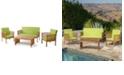 Noble House Carolina Outdoor 4pc Chair Set