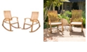 Noble House Cayo Outdoor Rocking Chair (Set of 2)