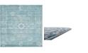 """Bridgeport Home Wisdom Wis3 Light Blue 8' 4"""" x 8' 4"""" Square Area Rug"""
