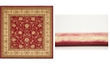 Bridgeport Home Passage Psg4 Red 10' x 10' Square Area Rug