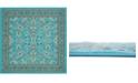 Bridgeport Home Arnav Arn1 Turquoise 8' x 8' Square Area Rug