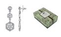 Downton Abbey Silver-Tone Crystal Linear Post Drop Earrings