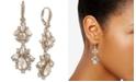 Marchesa Crystal Cluster Double Drop Earrings