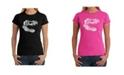 LA Pop Art Women's Word Art T-Shirt - T-Rex