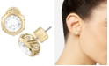 ZAXIE by Stefanie Taylor ZAXIE (4 c.t. t.w.) Pave Round Stud Earrings