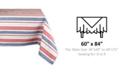 "Design Imports Patriotic Stripe Tablecloth 60"" x 84"""