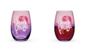 Blush Beach Please Stemless Wine Glass