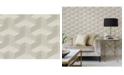 "A-Street Prints 27"" x 324"" Y Knot Light Geometric Texture Wallpaper"