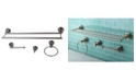 Kingston Brass Concord 4-Pc. Dual Towel Bar Bathroom Accessories Set in Brushed Nickel