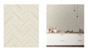 "Advantage 20.5"" x 369"" Punta Mita Chevron Wallpaper"