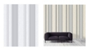 """Advantage 20.5"""" x 369"""" Mirabelle Stripe Wallpaper"""