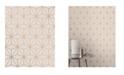 "Advantage 20.5"" x 369"" Augustin Rose Geometric Wallpaper"