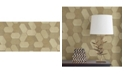 """Advantage 20.5"""" x 369"""" Plaza Light Geometric Wallpaper"""