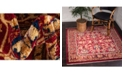 Bridgeport Home Thule Thu1 Burgundy Area Rug Collection