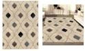 "KM Home CLOSEOUT! 3797/1001/BONE Imperia Ivory/ Cream 5'3"" x 7'3"" Area Rug"