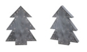 """Northlight 19.75"""" Large Pre-Lit Grey Christmas Tree Table Top Decoration"""