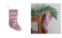 """Northlight 17.5"""" Pink Paillette Sequins Christmas Stocking"""
