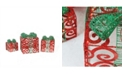 Northlight Set of 3 Prelit Sparkling Red Swirl Glitter Gift Boxes Christmas Outdoor Decorations