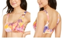 Hula Honey Juniors' Palm Play Printed Side-Knot Bralette Bikini Top, Created for Macy's