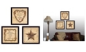 """Trendy Decor 4U Trendy Decor 4U Love Begins at Home Collection By Linda Spivey, Printed Wall Art, Ready to hang, Black Frame, 42"""" x 14"""""""