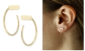 Macy's Bar Hoop Earrings Set in 14k Gold