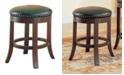 "Coaster Home Furnishings Kodiak 24"" Swivel Counter Stools with Upholstered Seat, Set of 2"