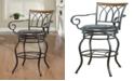 "Coaster Home Furnishings Kingman 29"" Decorative Metal Swivel Bar Stool"