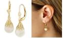 Macy's Floating Crushed Opal (1 ct. t.w.) Drop Earring in 14k Yellow Gold
