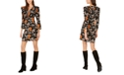NY Collection Petite Printed Ruffled Dress