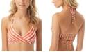 Vince Camuto Hammock Stripe Printed Wrap Halter Bikini Top
