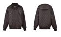 American Culture Little Boys Zip Front Diamond Quilted Design Bomber with Detachable Hood