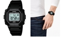Casio Men's Digital Black Resin Strap Watch 42.4mm