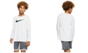 Nike Big Boys Dri-fit Long-Sleeve Training T-shirt