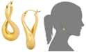 Signature Gold Twist Hoop Earrings in 14k Gold over Resin